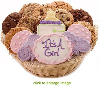 Baby shower cookies giftbasket