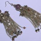 Amethyst Chain Earrings