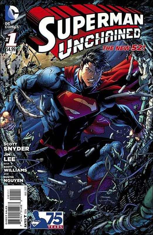 SUPERMAN UNCHAINED # 1 JIM LEE ART (2013) THE NEW 52