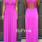 Backless Prom Dress, Long Prom Dresses, Chiffon Evening Dress