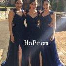 Applique Prom Dress, Long Prom Dresses,Blue Evening Dress