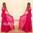 Long Prom Dress,V-Neck Prom Dresses,Sleeveless Evening Dress
