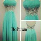 Long Prom Dress,Strapless Prom Dresses,Beading Evening Dress