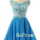 Off Shoulder Prom Dress,Applique Prom Dresses,Short Evening Dress