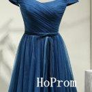 Off Shoulder Prom Dress,Bandage Prom Dresses,Short Evening Dress