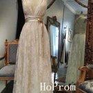 Straps Prom Dress,A-Line Prom Dresses,LaceEvening Dress