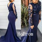 Applique Prom Dress,Mermaid Prom Dresses,Long Evening Dress