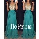 Sleeveless Beads Prom Dress,A-Line Prom Dresses,Long Evening Dress