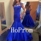 Floor Length Prom Dress,Mermaid Prom Dresses,Satin Evening Dress