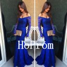 Off Shoulder Prom Dress,Lace Prom Dresses,Long Evening Dress