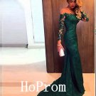 Floor Length Prom Dress,Green Lace Prom Dresses,Long Evening Dress