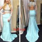 Two Piece Prom Dress,Mermaid Prom Dresses,Long Evening Dress