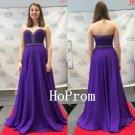 Sweetheart Prom Dress,Purple Prom Dresses,A-Line Evening Dress
