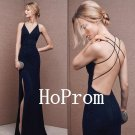 Spaghetti Straps Prom Dress,Backless Prom Dresses,Long Evening Dress