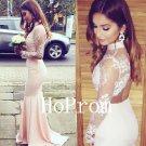 High Neck Prom Dress,Mermaid Prom Dresses,Long Evening Dress