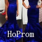 Royal Blue Prom Dress,Sweetheart Prom Dresses,Mermaid Evening Dress