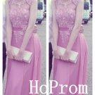 Sleeveless Prom Dress,Applique Prom Dresses,A-Line Evening Dress