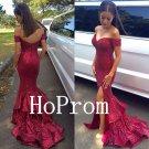 Off Shoulder Prom Dress,Sequinded Prom Dresses,Long Evening Dress