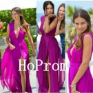 Sleeveless Prom Dress,Purple Prom Dresses,Chiffon Evening Dress