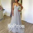 Spaghetti Straps Prom Dress,A-Line Prom Dresses,Evening Dress
