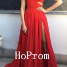 One Shoulder Prom Dress,Red Prom Dresses,Evening Dress