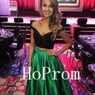 Two Piece Prom Dress, Long Prom Dresses,A-Line Evening Dress