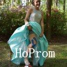 High Neck Prom Dress,Sparkly Prom Dresses,Evening Dress