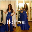 Royal Blue Prom Dress,Long Sleeve Prom Dresses,Evening Dress