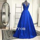 Royal Blue Prom Dress,Spaghetti Straps Prom Dresses,Evening Dress
