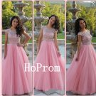 Cap Sleeve Prom Dress,A-Line Prom Dresses,Evening Dress