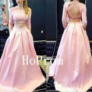 Long Sleeve Prom Dress,Backless Prom Dresses,Evening Dress