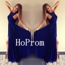 Royal Blue Prom Dress,Chiffon Prom Dresses,Evening Dress