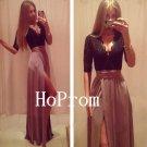 Black Lace Prom Dress,Long Sleeve Prom Dresses,Evening Dress