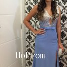 V-Neck Prom Dress,Beading Prom Dresses,Evening Dress