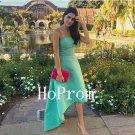 High Low Prom Dress,Strapless Prom Dresses,Evening Dress