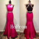 Hot Pink Prom Dress,Mermaid Prom Dresses,Evening Dress