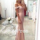 Off Shoulder Prom Dress,Sheath Prom Dresses,Evening Dress