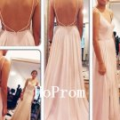 Open Backe Prom Dress,Spaghetti Straps Prom Dresses,Evening Dress