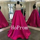 High Neck Prom Dress,Sparkly Prom Dresses,Evening Dress