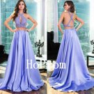 Two Piece Prom Dress,Halter Prom Dresses,Evening Dress