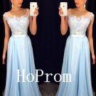 A-Line Prom Dress,Long Chiffon Prom Dresses,Evening Dress