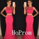 Lace Mermaid Prom Dress,Sleeveless Prom Dresses,Evening Dress