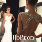Gorgeous Halter Prom Dress,Open Back Prom Dresses,Evening Dress
