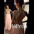 Cap Sleeve Prom Dress,O-Neck Prom Dresses,Evening Dress