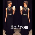 High Neck Prom Dress,Sleeveless Prom Dresses,Evening Dress