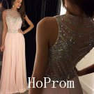 O-Neck Prom Dress,Sleeveless Prom Dresses,Evening Dress