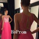 A-Line Prom Dress,Hot Pink Prom Dresses,Evening Dress