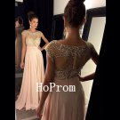 A-Line Prom Dress,Cap Sleeve Prom Dresses,Long Evening Dress