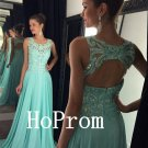 A-Line Prom Dress,Halter Prom Dresses,Long Evening Dress