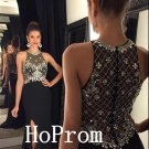 Black Prom Dress,Sleeveless Prom Dresses,Long Evening Dress